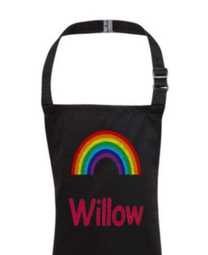 Personalised Childrens Kids Cooking Aprons Any Name Embroidered Gifts 3-10yrs