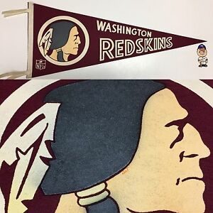 1960s Vintage Washington Redskins Nfl Football Pennant 12x29 DC Native America