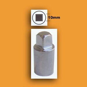 """10mm Square Male Socket Drain/fill Plug Tool Bit 3/8""""drive Automotive Machinery"""