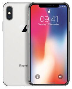 APPLE-IPHONE-X-64GB-SILBER-SIMLOCKFREI-SMARTPHONE-NAGELNEU-WOW