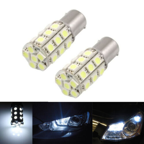 2 x White 1157 P21//4W Car 27 5050-SMD LED Stop Brake Bulbs Lamps Lights  ZN