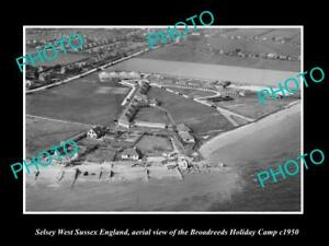 OLD-LARGE-HISTORIC-PHOTO-OF-SELSEY-ENGLAND-THE-BROADREEDS-HOLIDAY-CAMP-c1950