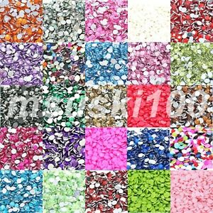 Rhinestone-3mm-Acrylic-Flat-Back-Diamond-Gem-Nail-Art-Card-Craft-Sparkle-Tip-New