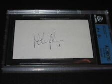 MARTIN BRODEUR AUTOGRAPHED 3X5 INDEX CARD-JSA/BGS SLAB-ROOKIE GRAPH