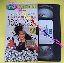 VHS film cartonata LA CARICA DEI 101 Glenn Close TV SORRISI CANZONI (F93) no dvd