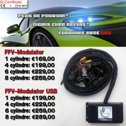 FFV Modulator USB 6 cylindres with BOSCH EV1 NORMAL E85 FLEX FUEL TUNING KIT