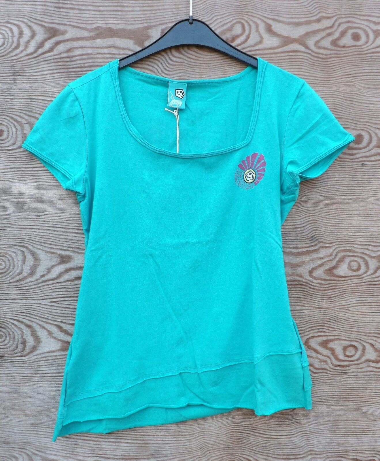 E9 NEW Start, T-Shirt for Ladies, Mint,  Size XS  good reputation