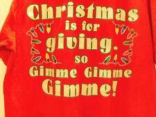 VINTAGE 90s CHRISTMAS IS FOR GIVING-GIMME GIMME CHRISTMAS LIGHTS T-SHIRT(L) rare
