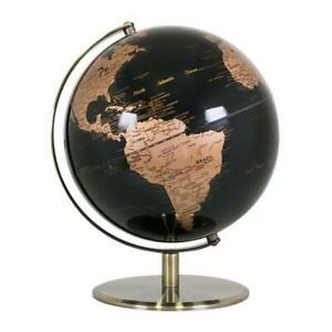 Details about STUNNING HIGH QUALITY Black & Copper/Gold World Globe Brass  Home Decor 9cm