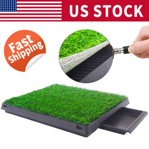 Indoor-Puppy-Dog-Pet-Potty-Training-Pee-Pad-Mat-Tray-Grass-House-Toilet-W-tray