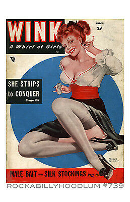 Pin Up Girl Poster 11x17 Titter Magazine Cover Art High Heeled Beauties
