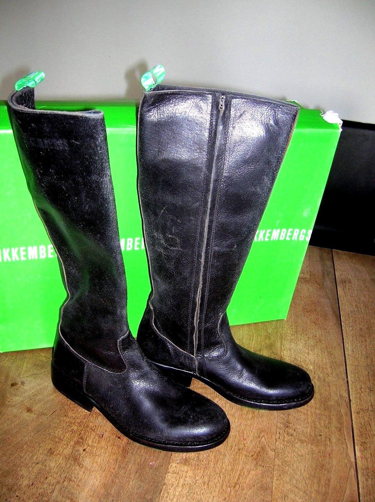 Zapatos especiales con descuento BIKKEMBERGS Black horse black vintage NEUVE Valeur 365E Pointure,37.
