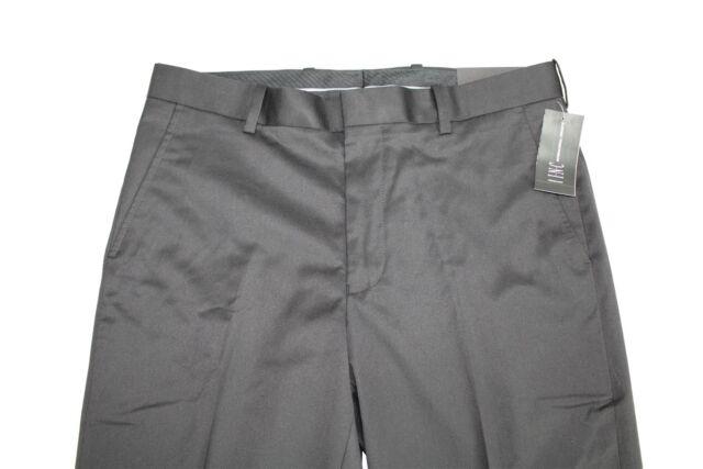 INC International Concepts Mens Black Flat Front Dress Pants
