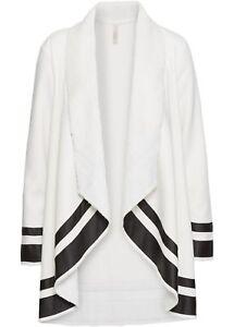 Manteau Veste Femme Noir col Avec châle Nouveau Gr Blanc Cardigan 36 38 BrBTZq
