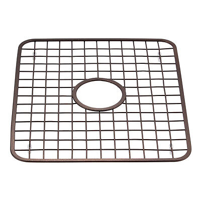 Bronze Kitchen Sink Protector Grid Mat 13x11in Steel Drain