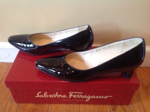 75 1 75S Black Leather noir Ferragamo verni S Patent 1 Cuir Boutique Talon Boutique Ferragamo XZPOkiu