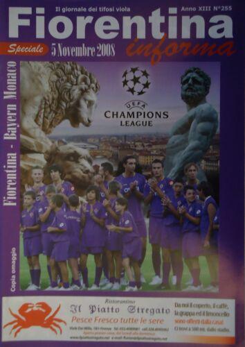 Bayern München Programm Speciale UEFA CL 2008//09 Fiorentina
