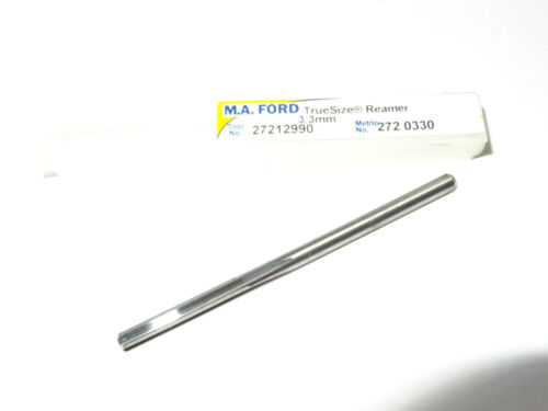 "MA FORD 0.1299/"" 3.3mm TrueSize Solid Carbide Chucking Reamer Straight Flutes USA"