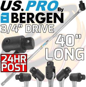"BERGEN BREAKER BAR 3/4"" Drive 1016mm 40"" Long Strong Arm Power Bar Wheel Wrench"