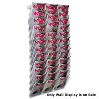 36-pocket Bi-fold Size Modular Wall Mount Display 19 Wide X 38 High