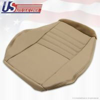 1999 To 2004 Ford Mustang Gt 6-speed Driver Bottom Leather Seat Cover Tan