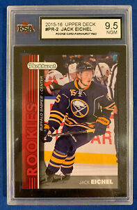 JACK EICHEL KSA 9.5 2005-06 UPPER DECK PARKHURST RED ROOKIE CARD #PR-2