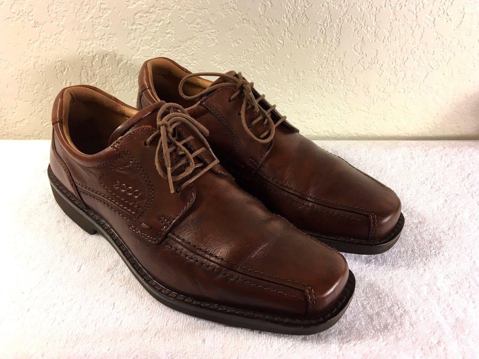 ECCO men's Brown Leather shoes Size 43 Good Shape