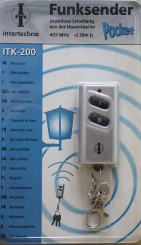 INTERTECHNO ITK-200 Funksender Funk Schaltung Handsender Schalter Fernbedienung