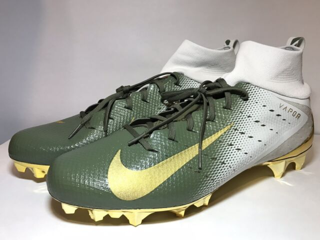 info for 77e04 303c9 Nike Vapor Untouchable Pro 3 Football Cleats Men s Size 15 Gold Green  917165-007