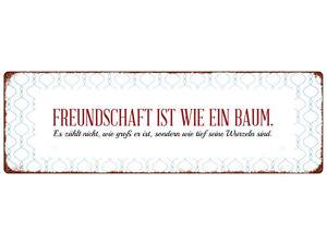 METALLSCHILD Blechschild Türschild FREUNDSCHAFT IST WIE EIN BAUM