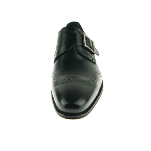 Chaussures Ruban D'aile Noir Cuir Bout Carrucci Homme Moine Robe PYZUqwF