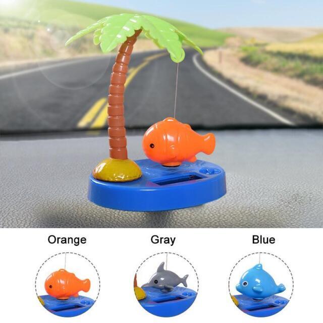 Tropical Fish Series Car Ornament Solar Powered Shaking Head Cartoon Animal Doll