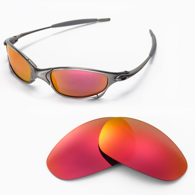 8f2b055f98 New Walleva Polarized Fire Red Replacement Lenses For Oakley Juliet  Sunglasses