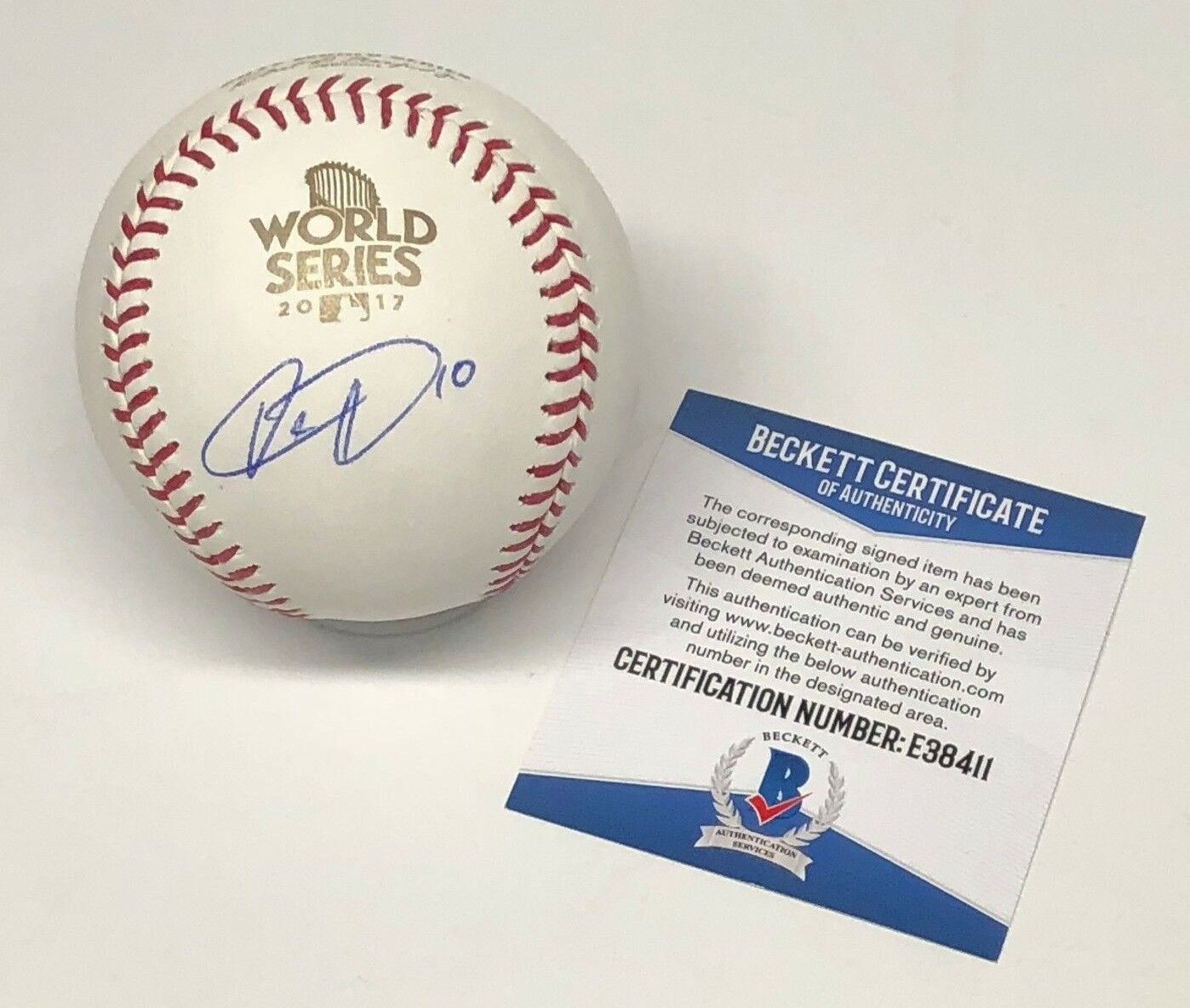 Yulieski Gurriel Signed 2017 World Series Baseball WSMLB BAS Beckett E38411