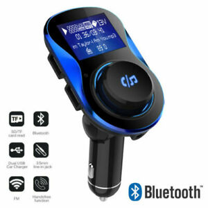 Bluetooth-Car-FM-Transmitter-Fast-Dual-USB-Charger-MP3-Player-Hands-free-AUX-Kit