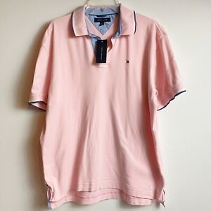 L Tommy Hilfiger Men/'s Logo Short Sleeve Polo Shirt Size