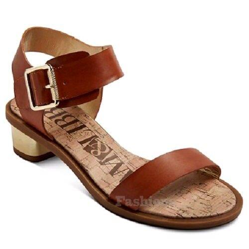 Womens Sam & Libby NWOB Brown Ankle Strap Heels Sandals NWOB Libby C120 4c36de
