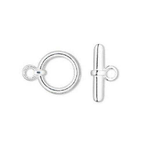 Clasp toggle silver plated brass for jewelry making select style