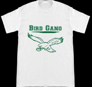 f4fdd6e4791 Philadelphia Eagles Super Bowl 52 Bird Gang Silhouette White T Shirt ...