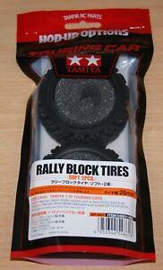 Tamiya-54861-Rally-Block-Tires-Tyres-Soft-2-Pcs-TA01-TA02-TT01-TT02-XV-01