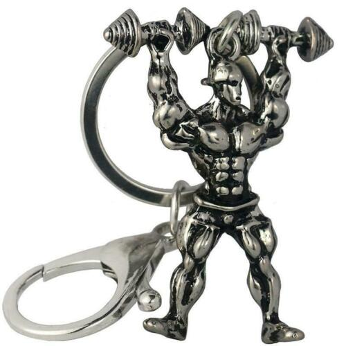 Dumbbell Bodybuilding Keyring Muscle Strong Man Keychain Male Key Chain Tool BL3