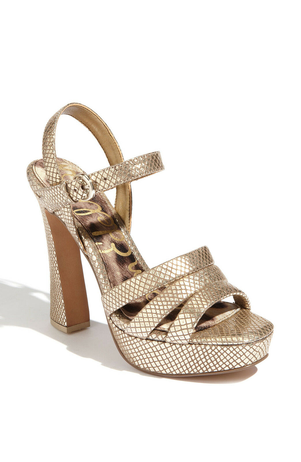 Sam Edelman Taryn gold Suede Platforms Heels Schuhes 10 NEU