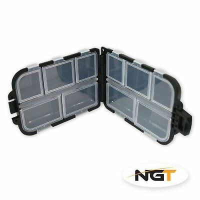 2 X 10 COMPARTMENT FISHING TACKLE BIT BOX ( hooks & swivels storage )