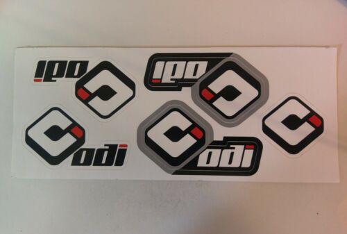 ODI BMX Vinyl Decal Sticker Sheet Black//Grey//Red//White New!!
