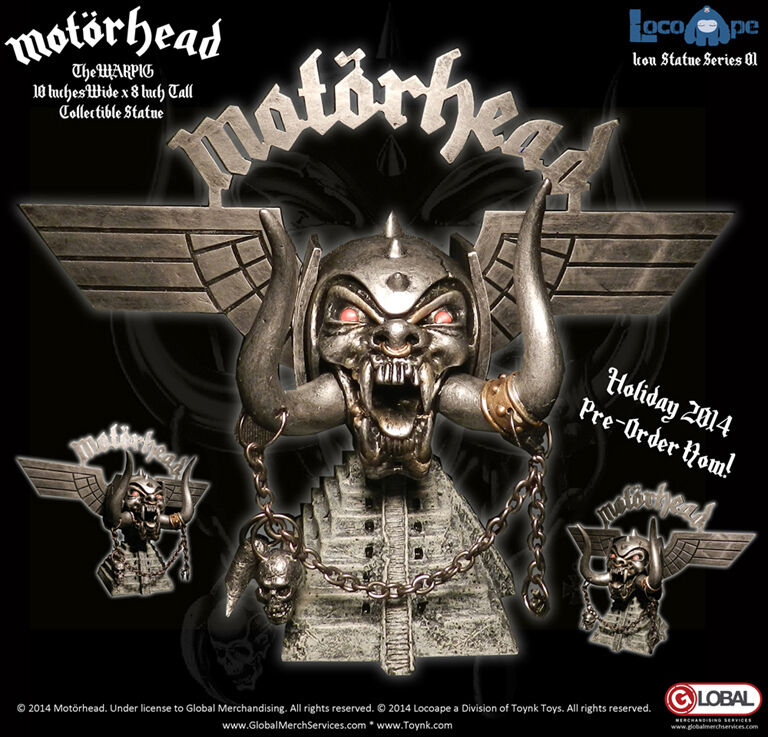 Motorhead warpig (lemmy kilmister) 10  collectible symbol statue serie pvc - statue