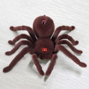 Remote Control Scary Creepy Soft Plush Spider Infrared RC Tarantula Toy Bole New