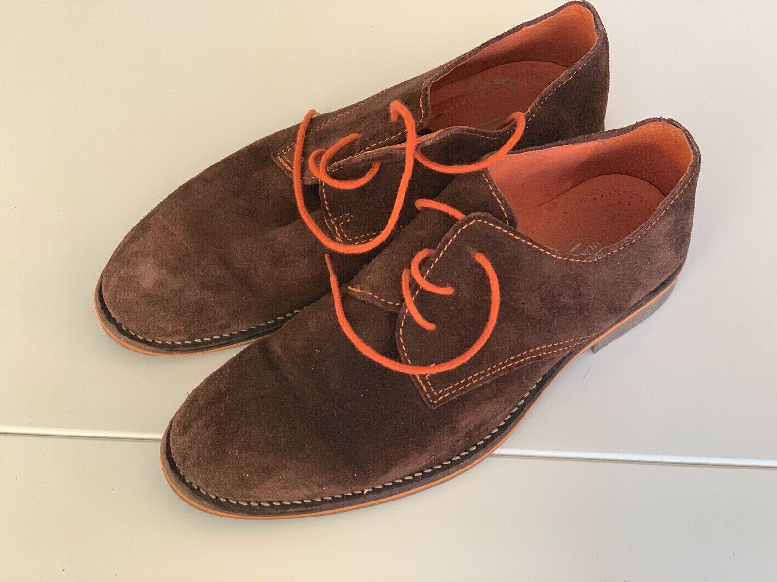 Morgan Smith brogues brown suede orange spain bought