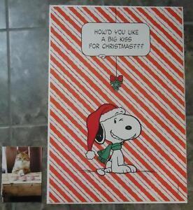Huge Christmas Card.Details About Rare Vtg Huge Hallmark Snoopy Christmas Greeting Card Charlie Brown Peanuts
