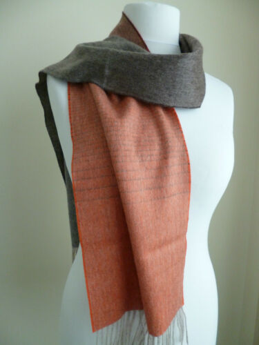Heritage Cashmere ladies scarf orange brown shaded NEW wool womens 100/% cashmere