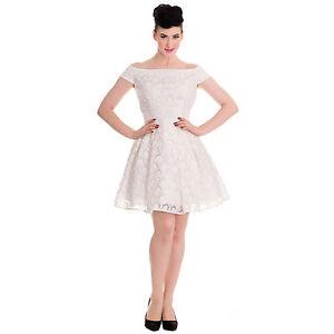 Beautiful-Starlet-Vintage-Ivory-Off-White-Dress-XS-XL-Retro-Rockabilly-Bridal